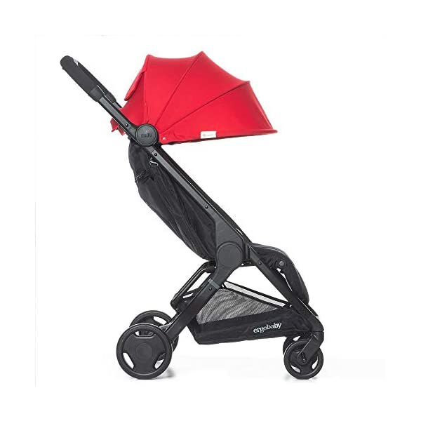 Ergobaby Metro Lightweight Buggy Stroller Pushchair with Sun-Shade Canopy One Hand Foldable, 6 Months to 18 kg Toddler (Red) Ergobaby A stroller that knows no limits. The Ergobaby Metro Strollers are ultra compact and fits effortlessly into small car boots and most aeroplane luggage compartments. An ideal baby and infant travel system. Baby comfort without compromise - soft, comfortable Stroller packed with plush, cushy padding that supports baby's head, back, bottom and legs . Advanced multi-zone support, and an adjustable footrest give your baby a comfortable seat. The gentle suspension and the shock absorbing PU tyres effortlessly tackle challenges such as kerbs, cobblestones and paving stones. Padded handle and strap. Storage tray for bags and shopping. 3