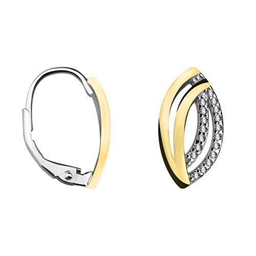 SOFIA MILANI Damen Creolen Bicolor Gold 925 Silber 20539 (Gold Milani)