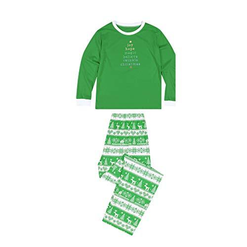 MEIHAOWEI Familie Passenden Kleidung Kinder Pyjamas Sets Weihnachten Familie Kleidung Mama und Mich Kleidung Familie Aussehen DAD-Green M (Who Schlafanzüge Kinder Dr)