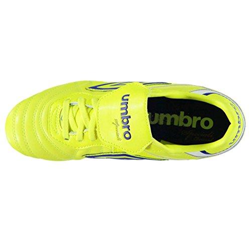 Umbro Hommes Speciali Eternal Premier Sg Chaussures De Football Tige En Cuir Jaune/Bleu