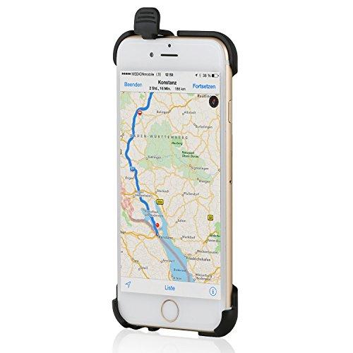 Wicked Chili Halteschale für Apple iPhone 6s / 6 (4,7 Zoll) für Vent Mount Lüfterhalterung, Bike Mount Fahrrad Halter und Autohalterung (Made in Germany, schwarz)