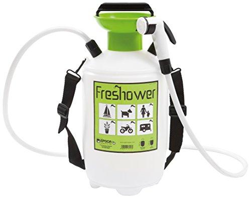 Freshower 7 8311.S00 Tragbare Dusche, Kunststoff, 19 x 19 x 41cm, transparent/Grün/Schwarz