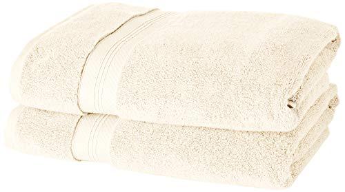 Pinzon - Juego de toallas de algodón Pima (2 toallas de baño + 2 toallas de mano), color marfil