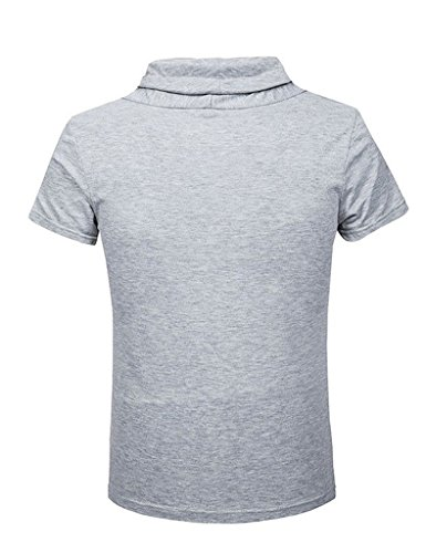 Legou Herren T-Shirt Rundhals Basic Shirt Mann Designs Tee Grau