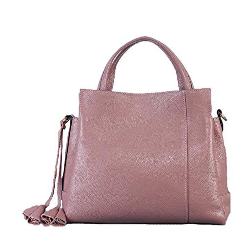 Lederhandtaschen-Schulterbeutel Kurierbeutelhandtaschen-Beutelart Und Weisefreizeit Im Freien Wild Pink