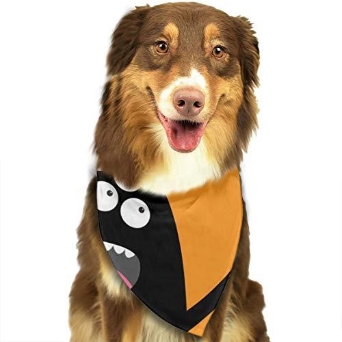 Halstuch/Halstuch für Hunde und Katzen, Halloween, Kürbis-Text, Schwarz
