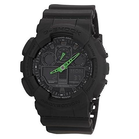 Casio G-Shock - Montre Homme Analogique/Digital avec Bracelet en Résine - GA-100C-1A3ER