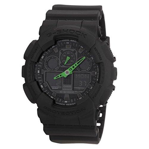 Casio Reloj Analógico-Digital para Hombre de Cuarzo con Correa en Resina GA-100C-1A3ER