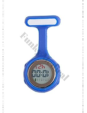 Digitale Taschenuhr für Pflegepersonal, Silikon, Blau