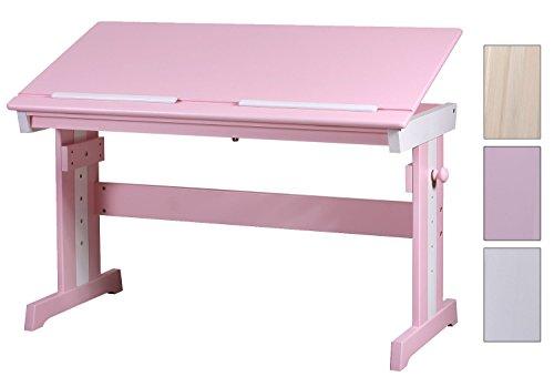 SixBros. Kinderschreibtisch Massiv Kiefer Pink/Weiß RD00177-1/1872