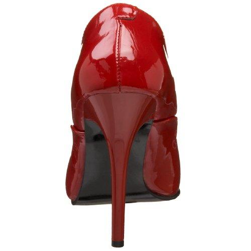 Pleaser Milan-01, Hoch femme Rouge Brillant