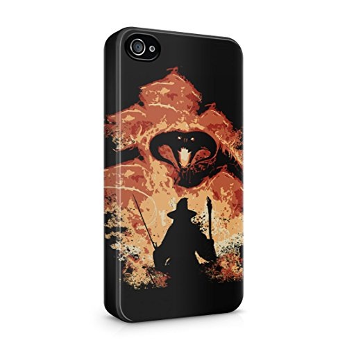 Lord Of The Rings Balrog Cs Gandalf iPhone 4 / 4S Hard Plastic Phone Case Cover