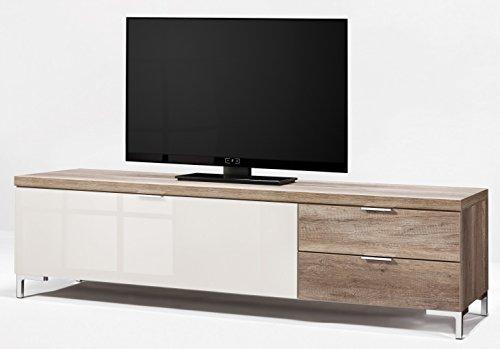 CS Schmalmöbel 45.150.505/023 TV-Board Cleo Typ 20, 163 x 50 x 47 cm, wildeiche / weißglas - 2