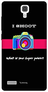 The Racoon Lean I Shoot hard plastic printed back case / cover for Xiaomi Redmi Note Prime