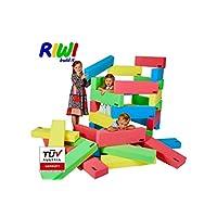 RIWI 12 XXL Building Bricks | Soft Foam Blocks | Machine Washable | TÜV Austria Certified | Made in Europe