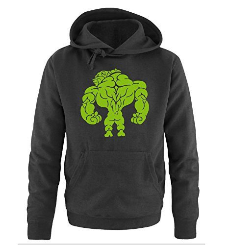 Comedy Shirts - BODYBUILDING BULLDOG - Uomo Hoodie cappuccio sweater - taglia S-XXL different colors nero / verde