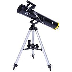 GEERTOP Telescopio Reflector Astronómico Compatible con Cámaras 70076 EQ Profesional Claro Portátil y Adolescentes para Trekking y Alpinista