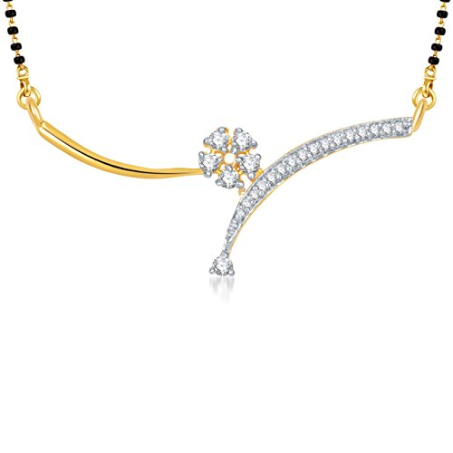 Meenaz Marvelous Cubic Zirconia Mangalsutra Pendant For Women Ms762