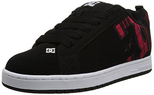 DC Shoes Court Graffik, Chaussures de skate homme Noir/carreaux