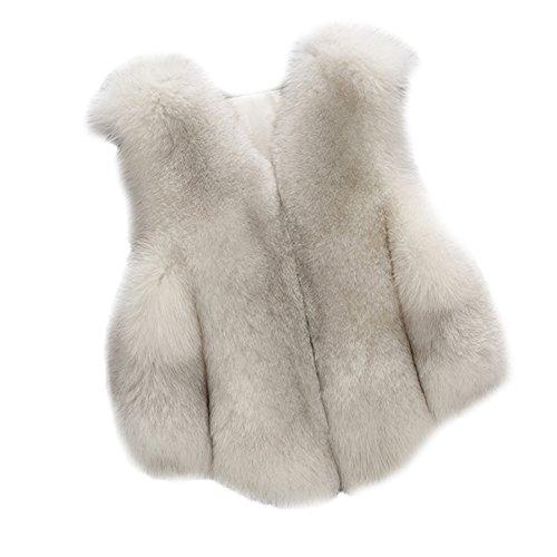 FOLOBE Kind Faux Fox Pelz Mantel Jacke Weste heißen Winter Warm Gilet Outwear kurz Slim Weste -
