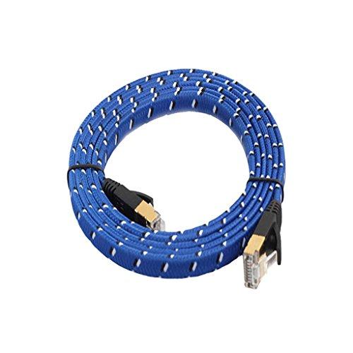 MagiDeal CAT7 Patchkabel Ethernet Kabel Netzwerkkabel 10 gbps Internetkabel Steckverbinde Kabel - 5m