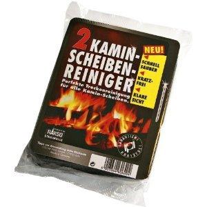 12x Kamin Scheiben Reiniger - Der 1. Trockenreiniger für alle Kaminscheiben