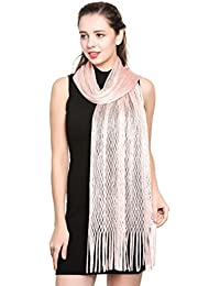 World of Shawls Scarf Wrap for Evening Dresses - Sheer Bridal Women's Scarves for Prom, Wedding, Party