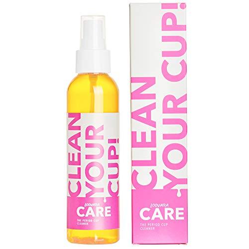 Loovara – clean your cup! | veganes Reinigungsspray für die Menstruationstasse | auch für Sexspielzeug | für unterwegs, schonende Entfernung sämtlicher Bakterien, für eine keimfreie Monatshygiene