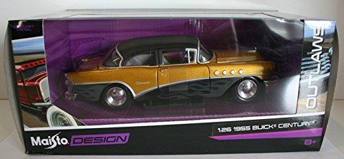 maisto-1965-buick-century-outlaws-124-scale-diecast-car-by-maisto
