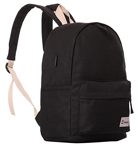 Bopopo Cavas Laptop Backpack Casual School Reisen Daypack mit USB Ladestation Grau Schwarz