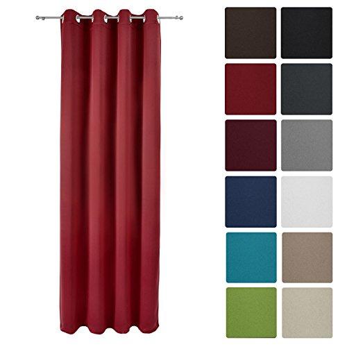 Beautissu® Blackout-Vorhang Amelie mit Ösen – 140×245 cm – Verdunklungsgardine Ösenschal Blickdicht – diverse Farben