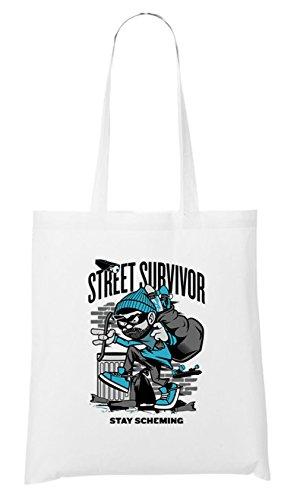 Street Survivor Stofftasche White Certified Freak
