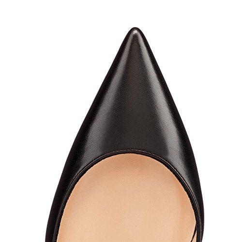 MERUMOTE Damen Y-018 Slip-On Pointed-toe High Heel Dame Dress Pumps Designer Schuhe EU 35-46 Schwarz-Matt vwBhgVKjlZ