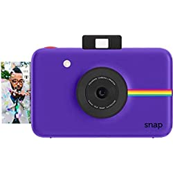 Polaroid Snap - Appareil Photo Numérique Instantané avec la Technologie d'Impression Zink Zero Ink, 10 Mp, Bluetooth, Micro Sd, 5 x 7,6 cm, Violet