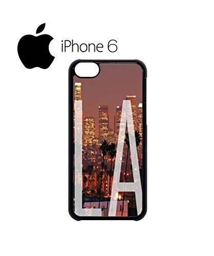 Los Angeles LA Downtown Retro Swag Mobile Phone Case Back Cover Coque Housse Etui Noir Blanc pour iPhone 6 White Blanc