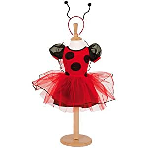 Toddlers fancy dress outfit - red and black - ladybird - size 18 months to 2 years