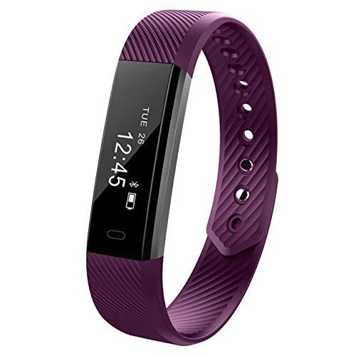 STRUGGGE Fitness-Tracker, schmaler Touchscreen, Aktivitäts- und Gesundheitstracker, Schlafmonitor, kabelloser Schrittzähler, Smart-Armband, violett, Siehe Produktbeschreibung