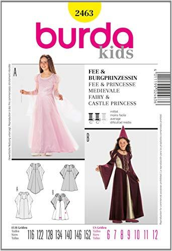 Fee Kostüm Muster - Burda Schnittmuster 2463 Fee,Burgprinzessin Gr. 116-152