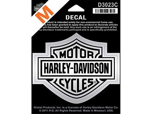 Harley-Davidson Aufkleber B&S Mittel Silber