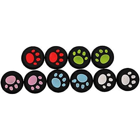 Cap Grip palillo del pulgar de la cubierta de silicona del estilo de la pata de palanca de mando de Timorn gato protector para PS4 PS3 PS2 Xbox 360 Controller Uno / Juego (5