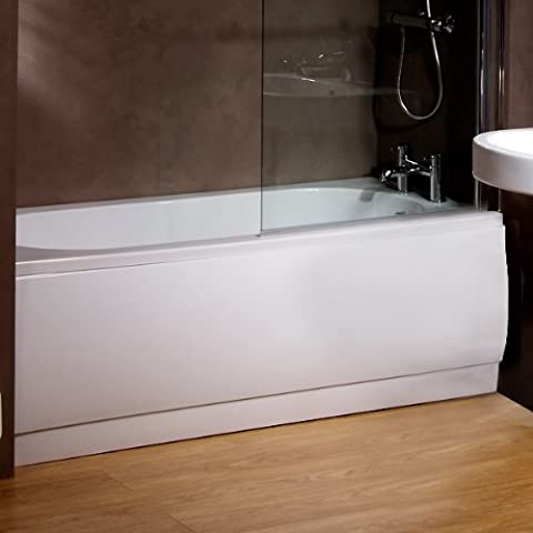 Bath Panel Side Front Cover Flat White Acrylic Plastic Adjustable