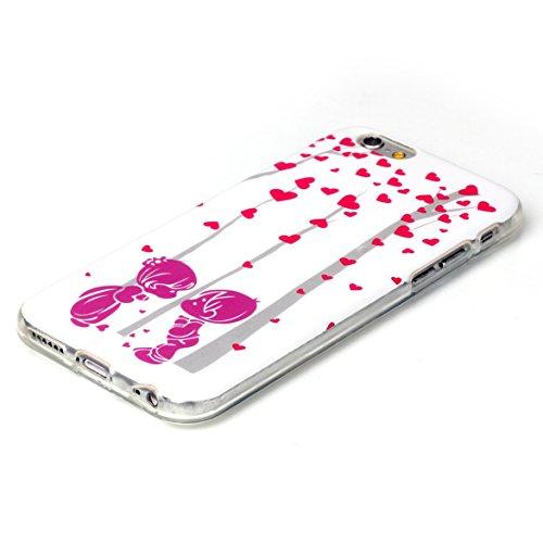 "iPhone 6S Silicone Case,iPhone 6 Coque - Felfy Ultra Slim Mince Flexible Souple Soft Gel Case Cover Apple iPhone 6/6S 4.7"" Coque Housse Coloré Motifs Peint Protection TPU Case Cover Apple iPhone 6/6S  Couple Amour"