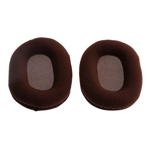 MagiDeal Weiche Ohrhörer Ersatz Abdeckungen aus Flanell und Memory Foam für Ohrhörer Kopfhörer, 100mm -