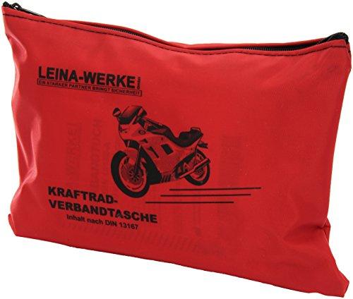 Leina 17000 Moto, Kit di Primo Soccorso, Tipo I, Senza Velcro, Colore: Rosso/Nero