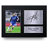 Eden Hazard Gift Signed A4 Printed Autograph Chelsea Gifts Photo Display