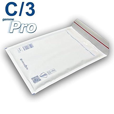 Lot de 10 enveloppes à bulles blanches gamme PRO C/3 format 140x215mm