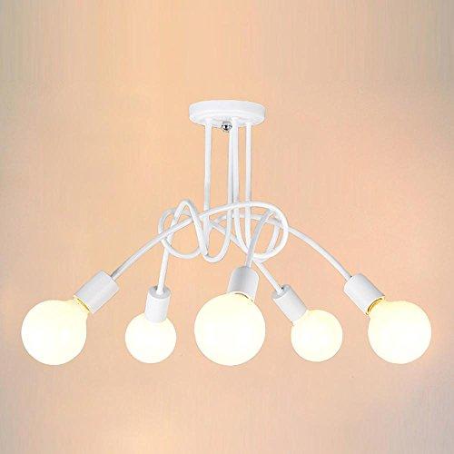 industriell-retro-metall-kronleuchter-mit-5-lichter-deckenbeleuchtung-gemalt-fertig-weiss