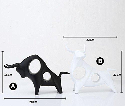 Livin Zimmer Dekoration Studie Vieh Vermögen Harz Ornamente Handwerk bullish Dekoration, Bücherregal einfach kreativ , black , 23*10*23 Bücherregal Holzbearbeitung