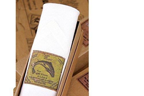 Tamielle - Forelle fliege fischen motiv einzeln des mannes weiß taschentuch - 40cm x 40cm - Schön präsentation in einer geschenkbox und ethisch produzierte (Fliegenfischen Präsentation)