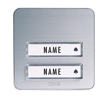 m-e GmbH modern-electronicsDoorbell buttonsBell button KTA Single family white Silver